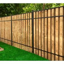 Slipfence 3 In X 1 5 In X 92 In Black Aluminum Vertical Fence Stringer Kit Includes 2 Stringers 4 Brackets And All Fasteners Sf2 Usk93 The Home Depot