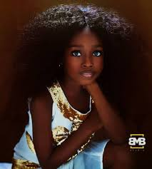 سمراء نيجيريا تحظى بلقب أجمل طفلة في العالم صور ليبيا المختار
