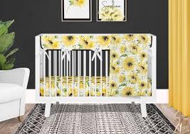 sunflower crib bedding set for baby