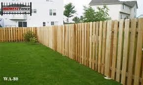 Alternating Wood Private Fences Midwest Fence