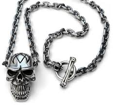 tribal skull from solid sterling silver