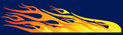 Flames Decal For Pinewood Derby Cars