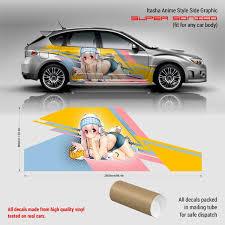 Super Sonico Itasha Anime Style Side Graphic Decals