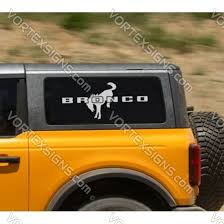 Side Rear Window Bronco Logo Decals Stickers Graphics