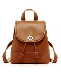 nicole designer leather backpack purse