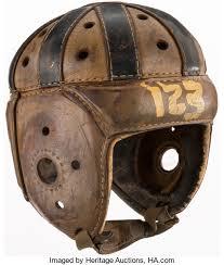"""c. 1930s Rawlings """"123"""" Leather Football Helmet.... Football   Lot ..."""