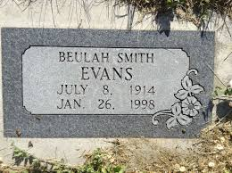 Beulah Smith Evans (1914-1998) - Find A Grave Memorial