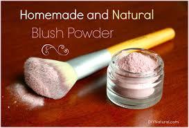 cosmetics recipe for natural blush powder