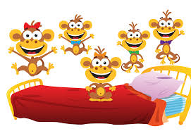 Resultado de imagen de 5 little monkeys jumping on the bed