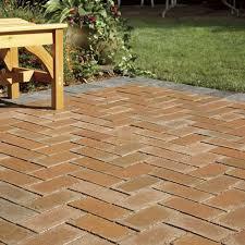 concrete patio with pavers