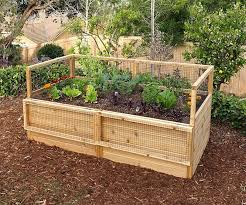3 X 6 Raised Garden Bed With Hinged Fencing Diy Raised Garden Cedar Raised Garden Raised Garden