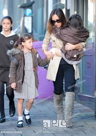 Myleene Klass out and about with her daughters Hero and Ava in North London  Featuring: Hero Harper..., Stock Photo, Picture And Rights Managed Image.  Pic. WEN-WENN22890082 | agefotostock
