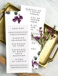 wedding program wording magnetstreet