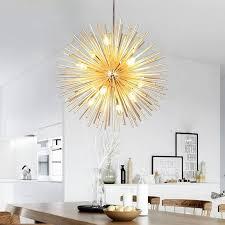 golden sputnik light chandelier ceiling