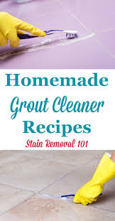 homemade grout cleaners recipes