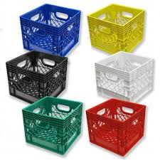 Set Of 6 Square Milk Crates Heavy Duty Crates At The Best Prices