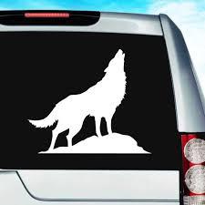 Wolf Howling Vinyl Car Window Decal Sticker