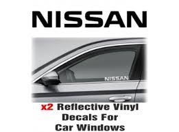Nissan Window Decal Sticker Graphic Reflective Vinyl X2 Decals Stick And Glow Reflective Decals