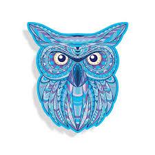 Owl Sticker Blue Bird Zen Cup Laptop Vinyl Car Truck Vehicle Window Bumper Decal Ebay