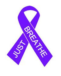 Just Breath Cystic Fibrosis Or Cancer Ribbon Car Decal Etsy