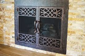 custom wrought iron fireplace doors by