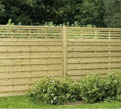 6ft High 1 8m Forest Europa Kyoto Fence Panel Flat Top With Integral Trellis Elbec Garden Buildings