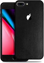 Amazon Com Sojitek Apple Iphone 8 Plus Black Leather Texture Protective Vinyl Skin Decal Skins Wraps For Front Back Protection