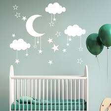 Duobla Diy Large Moon Star Wall Decals Children S Room Home Decoration Art Walmart Com Walmart Com