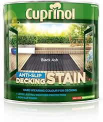 Cuprinol Anti Slip Decking Stain Black Ash 2 5l Amazon Co Uk Diy Tools
