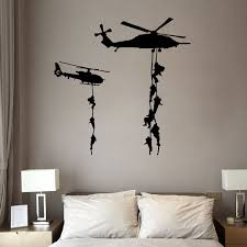 New Kids Helicopter Vinyl Decal Marines Military War Soldier Wall Stickers Bedroom Decor Hot Diy Art Poster Wish