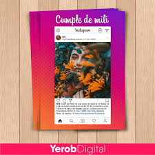 Tarjetas Invitaciones Cumpleanos Instagram 15 Anos Pack X10