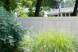 Privacy Eastern White Cedar Wood Grain Pvc Vinyl Privacy Fence By Illusions Viny Traditional Landscape New York By Illusions Vinyl Fence