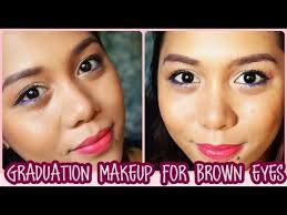 easy graduation makeup for brown eyes