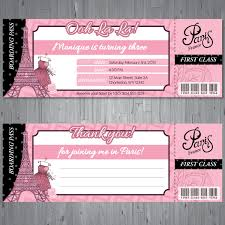 Paris Boarding Pass Free Thank Cumpleanos De Paris Diseno De