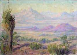 Old Desertscape oil on board Painting by EFFIE ANDERSON SMITH ...
