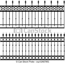 Vector Illustration Of Iron Fence