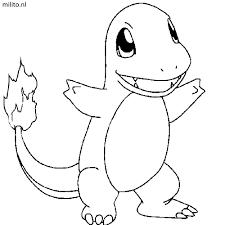 Kleurplaat Pokemon Charmander De Mooiste Kleurplaten Milito Nl