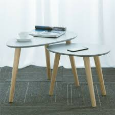 side tables set of 2 round nest of