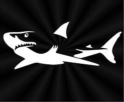 Great White Shark Decals Car Truck Wall Window Vinyl Etsy