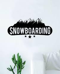 Snowboarding Wall Decal Sticker Bedroom Room Art Vinyl Home Decor Teen Boop Decals