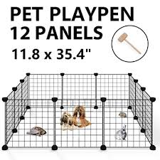 Allisandro Pet Playpen Portable Yard Fence Indoor Outdoor Small Animal Cage For Puppy Dog Cat Guinea Pigs Rabbits Buy Products Online With Ubuy Qatar In Affordable Prices B07pshq5pn