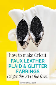 faux leather earrings with a cricut