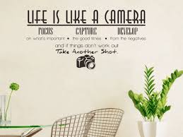 Life Is Like A Camera Quote Wall Stickers Adesivo De Parede Vinyl Wall Stickers Home Decoration Wallpaper Wall Sticker Wall Stickers Aliexpress