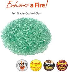 4 crushed tempered fire glass