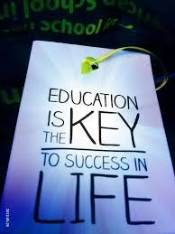 nice graduation quote~education is the key to success in life