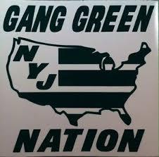 Ny Jets Gang Green Nation Vinyl Decal Ebay