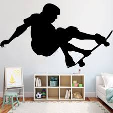 Wall Stickers Skateboard Cool Boys Bedroom Art Decals Vinyl Home Room Decor