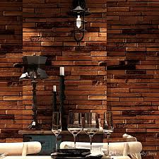 papel parede vintage brick wallpaper 3d