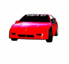 Pontiac Fiero Gt Windshield Banner Decal Sticker Custom Sticker Shop