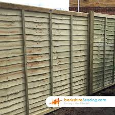 Lap Fence Panels 5ft X 6ft Brown Berkshire Fencing